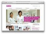 """Die neue Webseite mit Orientierung an den Zielgruppen """"Patienten"""", """"Ärzte & Pflegepersonal"""", """"Besucher"""" und """"Jobsuchende"""""""